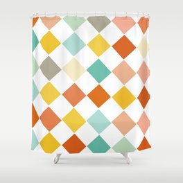 Color Check Shower Curtain