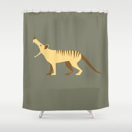 EXTINCT: Thylacine (Tasmanian Tiger) Shower Curtain