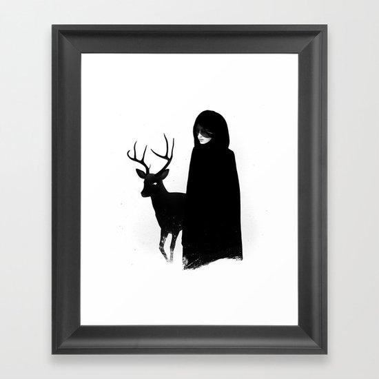 Absentia in white Framed Art Print