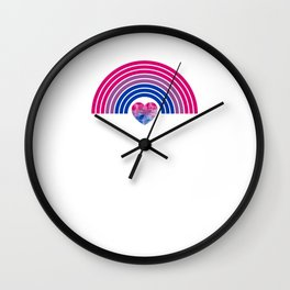 Gay Pride LGBT Bisexual Bi Rainbow  design Wall Clock