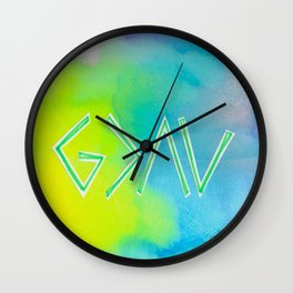 God Is Greater Than The Ups and Downs- Mix GREEN Wall Clock