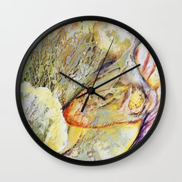 Female Abstract Wall Clock