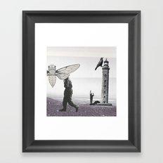 Le phare Framed Art Print