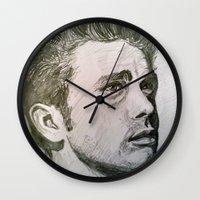 rebel Wall Clocks featuring Rebel by Mea Culpa