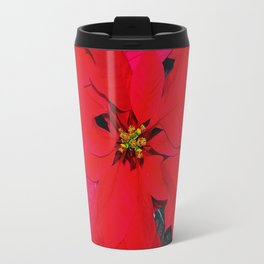 Poinsettia Travel Mug