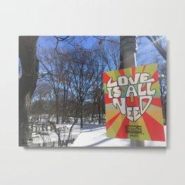 Central Park Snow Metal Print