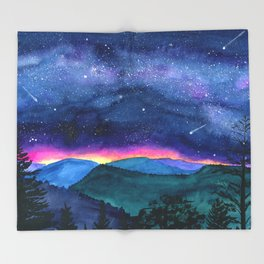 Good Night Smoky Mountains Throw Blanket