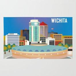 Wichita, Kansas - Skyline Illustration by Loose Petals Rug