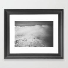 Mountain refuge Framed Art Print