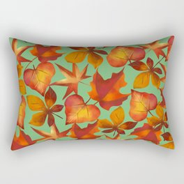 colourful fall leaves Rectangular Pillow