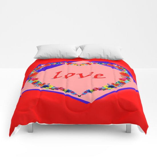 heart of flowers Comforters