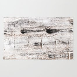 Ghost white abstract watercolor Rug