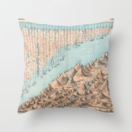 Chart of the World's Mountains and Rivers - Geographicus Throw Pillow