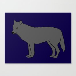 The Furtive Timberwolf Canvas Print