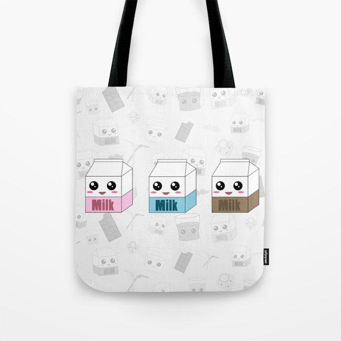 Kawaii Milk Cartons Tote Bag By Luvlymoonbunny