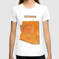 arizona T-shirts featuring Arizona Map by Roger Wedegis