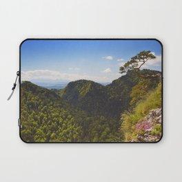 Pine tree at the Dunajec Canyon on the Polish border Laptop Sleeve