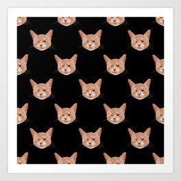 Kiki, the pretty blind cat Art Print