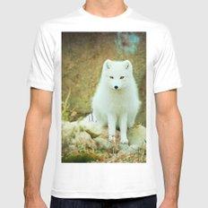 Snow fox MEDIUM Mens Fitted Tee White