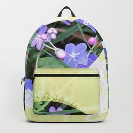 For-get-me-not Pattern Backpack