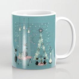 Vintage Cat Family Holiday Coffee Mug