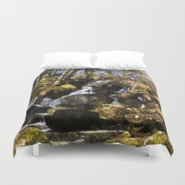 Becky Falls with texture Duvet Cover