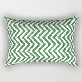 Canadian Wildlife Chevron Emerald Rectangular Pillow