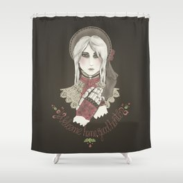 Welcome home good hunter Shower Curtain
