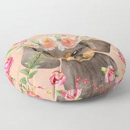 Vintage Dachshund Floor Pillow