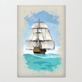 Under Sail Canvas Print