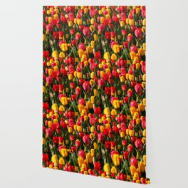 Peace, Love And Tulips Wallpaper