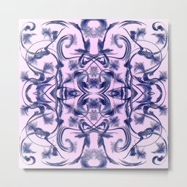 lilac Digital pattern with circles and fractals artfully colored design for house and fashion Metal Print