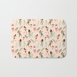 Central Park Workout #illustration #pattern #womensday Bath Mat