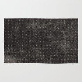 Vintage geometrical black brown polka dots pattern Rug