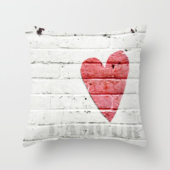 L'amour Throw Pillow