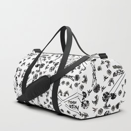 Bird & Flower Pattern Duffle Bag