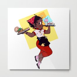 Betty Burger! Metal Print