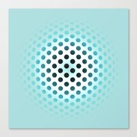 polka dot Canvas Prints featuring Polka dot by PiliArt