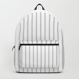 Dove Grey Pin Stripes on White Backpack