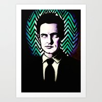 dale cooper Art Prints featuring Black Lodge Dale Cooper by Kate Davis