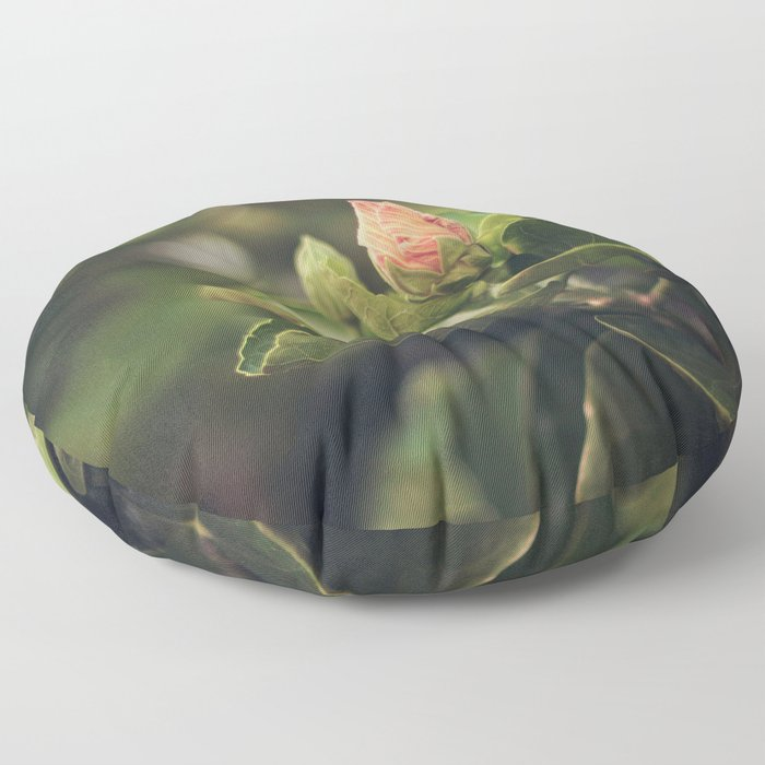 Capullo de Hibisco - Hibiscus bud Floor Pillow