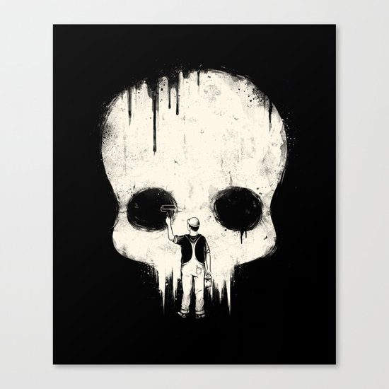 Paint it Black Canvas Print