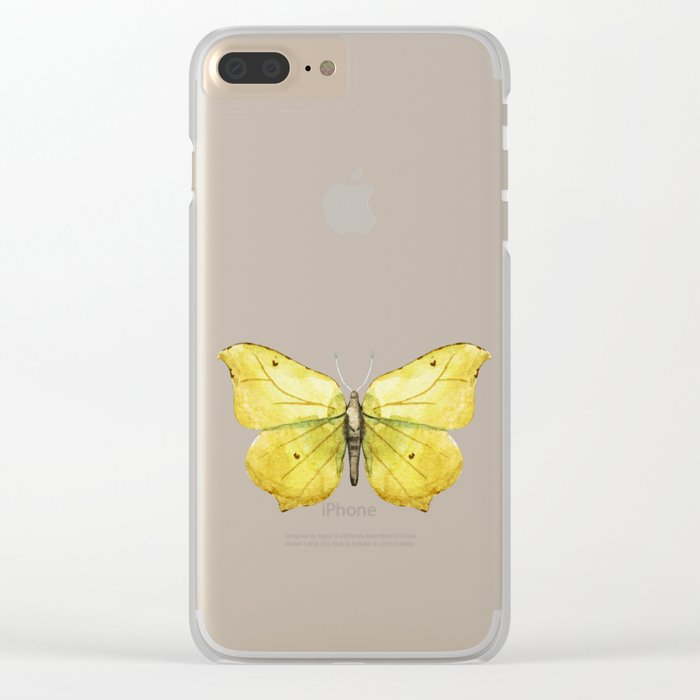 Butterfly 06 Clear iPhone Case