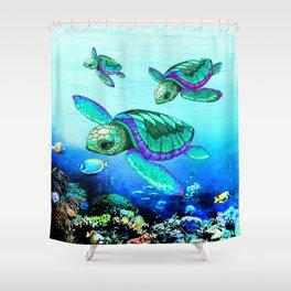 Sea Turtles Dance Shower Curtain