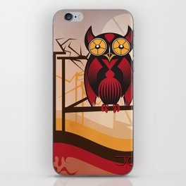 Red Owl at Dusk iPhone Skin