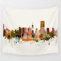 san francisco Wall Tapestries featuring San Francisco by mark ashkenazi