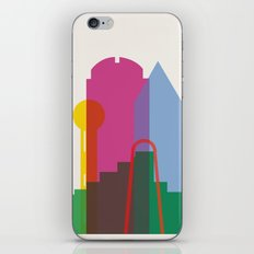 Shapes of Dallas. Accurate to scale. iPhone & iPod Skin