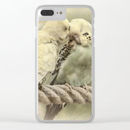 Budgie Buddies Clear iPhone Case