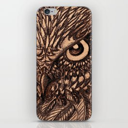 Fierce Brown Owl iPhone Skin