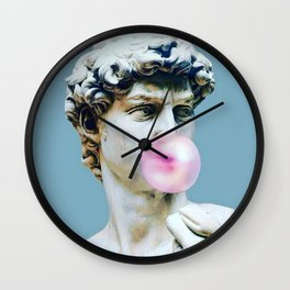 The Statue of David (Michelangelo) with Bubblegum Wall Clock